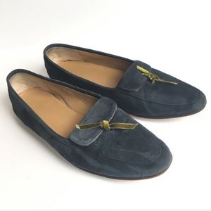 J.Crew Suede Loafer Smoky Blue Size 9